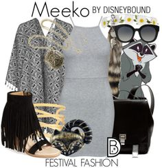 Disney Bound: Meeko from Disney's Pocahontas (Festival Fashion Outfit)