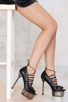 Jennifer Chou Topanga Leather Platform | Shop Heels at Nasty Gal