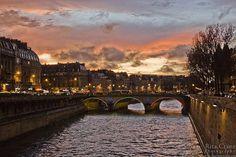 Pont St. Michel & the Seine at Sunset, Paris by Rita Crane