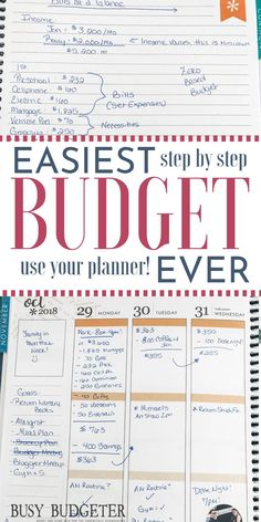 The Only Way to Budget When You Suck at Budgeting. - Finance tips, saving money, budgeting planner Budget Binder, Budget Spreadsheet, Budget Notebook, Budget Tracking, Excel Budget, Plan Budgétaire, How To Plan, Budgeting Finances, Budgeting Tips