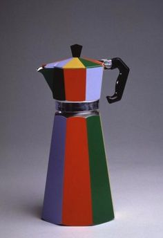 This simple coffee pourer has been modified to add contrasting, block colour to fit the Memphis movement.