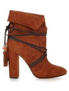 X Poppy Delevingne Moonshine ankle boots   Aquazzura   MATCHESFASHION.COM UK