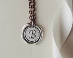 Unisex Personalized Necklace Initial NecklaceWax by 4Everinstyle, $26.00