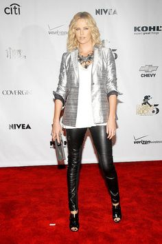 Charlize Theron Style: In Rag & Bone at a Conde Nast event in September '08.