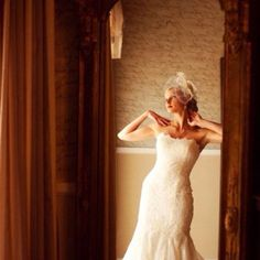 Elegant bridal pose