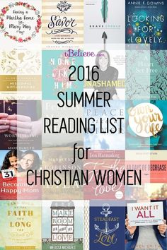 Our 2016 Summer Reading List for Christian Women by iBelieve #mustread #summerreading #bookclub