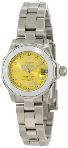 Women's Wrist Watches - Invicta Womens 12520 ProDiver Yellow Dial Watch * Check this awesome product by going to the link at the image. (This is an Amazon affiliate link)