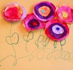 Kids DIY 3D Flower Card