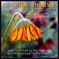Be Thou Humble