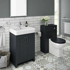Sink Vanity Unit, Vanity Units, Bathroom Furniture, Bathroom Interior, Traditional Bathroom Suites, Concealed Cistern, Soft Closing Hinges, Blue Vanity, Dual Flush Toilet