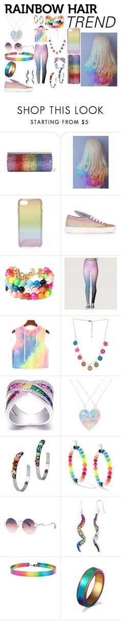 """""""Following The Hair Trend"""" by haylee-rose999 ❤ liked on Polyvore featuring Jimmy Choo, Rebecca Minkoff, Minna Parikka, Venessa Arizaga, Marc Jacobs, DANNIJO, Fendi, Forever 21, WithChic and rainbow"""