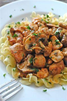 Pinterest Foods: Healthy Foods  (Chicken Stroganoff, Angel Chicken, Chicken Spaghetti.)