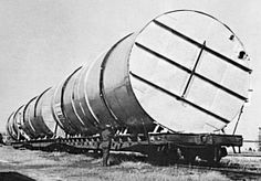 """1969 -Being named a """"mammoth tank"""" wasn't enough. Here, it is completing an expansion of 750,000 gallons to increase storage capacity at Jordan Wine Ltd. Due to the """"mammoth"""" size of the tank, railway officials were needed for special routing and handling. By the end, 190,000 gallons were added to the winery's storage, bringing it to 6,000,000 gallons in total."""