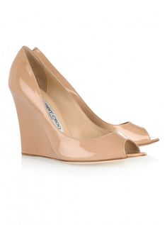 Jimmy Choo Bello patent-leather wedges, £375