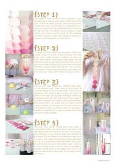 tutorial for a DIY paint swatch chandlier from Paper Runway Entertaining