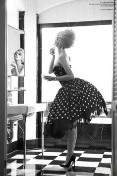 I love everything about this picture retro hair and make up