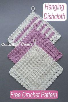All Free Crochet, Easy Crochet Patterns, Crochet Home, Crochet Crafts, Crochet Yarn, Crochet Projects, Crochet Kitchen, Crochet Dish Towels, Crochet Dishcloths