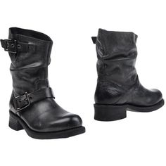 Harley-davidson Footwear Ankle Boots ($185) ❤ liked on Polyvore featuring shoes, boots, ankle booties, steel grey, buckle bootie, round toe booties, leather ankle boots, ankle boots and round toe boots