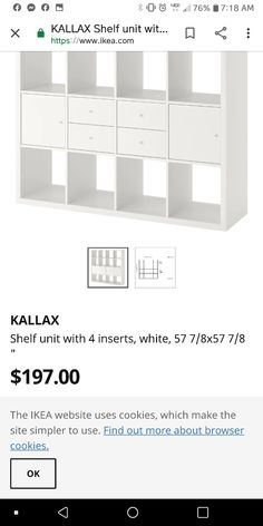 Kallax Shelf Unit, Furniture Vanity, Bar Chart, Ikea, The Unit, Shelves, Simple, How To Make, Shelving