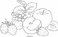 como pintar legumes em tecido - Pesquisa Google