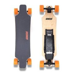 KooWheel Longboard Electric Skateboard Boosted With Dual Brushless Motors and Wireless Remote Control - PLUS 286 LB Weight Capacity and 27 MPH Max Speed - Orange Wheels Bamboo Decking, Orange Wheels, Skate Store, Electric Skateboard, Thing 1, Look Good Feel Good, Best Face Products, Skateboards, Safari