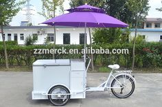 Two Front Wheel Cargo Coffee Bike For Vending