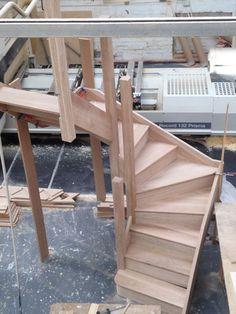 Solid Oak staircase 2 TURN Winder Stairs - SOLID OAK - ANY SIZE - Oak Stair   eBay