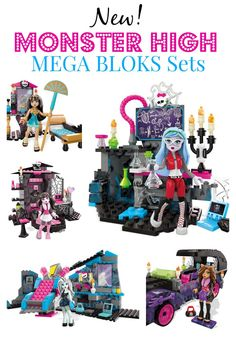Have you heard about the new Monster High Mega Bloks Sets? The guys and gals are now miniaturized in these amazing construction sets. See all of the sets and Monster High dolls on Parties365!