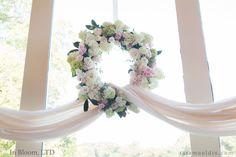 Wedding wreath Spring colors