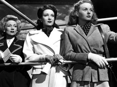 Ann Sothern, Linda Darnell, and Jeanne Crain in A LETTER TO THREE WIVES ('48)