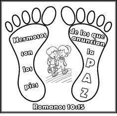 """Los niños y la Biblia: Taller de cocina Bíblica """"Hermosos son los pies de los que anuncian la paz"""" Romanos 10:15"""