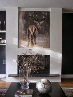 Edelhert/Deer Olieverfschilderij/Oilpainting www.angeliqueweijers.nl