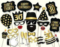 30 лет день рождения юбилей набор реквизитов для фотосессии