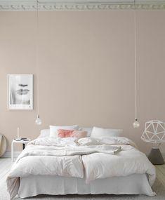 Anna G.: New dusty shades from Jotun Lady Anna G.: New dusty shades from Jotun Lady Dream Bedroom, Home Bedroom, Modern Bedroom, Bedroom Decor, Bedroom Lighting, Calm Bedroom, Bedroom Wall, Jotun Lady, Ideas Hogar