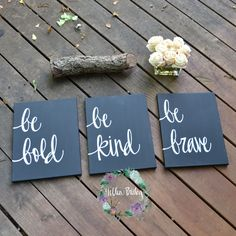 Value Pack - Set of 3 Dorm Room Decor 11 x 14 Canvas Paintings Black and White Inspirational Wall Art Wall Hangings Nursery Home Decor Gift by GoldenPaisley on Etsy https://www.etsy.com/listing/177827005/value-pack-set-of-3-dorm-room-decor-11-x