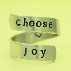 choose joy ring Wrap Around Ring Adjustable by TheVillageGifts, $10.00