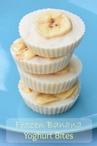 Frozen Banana Yoghurt Bites recipe - Simple and healthy snack idea with only 3 ingredients - easy recipe for kids from Eats Amazing UK kids snacks Frozen Banana Yogurt Bites Easy Meals For Kids, Healthy Snacks For Kids, Snack Ideas For Kids, Summer Snacks, Kids Meals Ideas, Breakfast Ideas For Kids, Kids Dinner Ideas, Simple Healthy Recipes, Simple Snacks