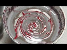 OPI Fifty Shades of Grey Water Spiral Marble Nail Art Tutorial - YouTube