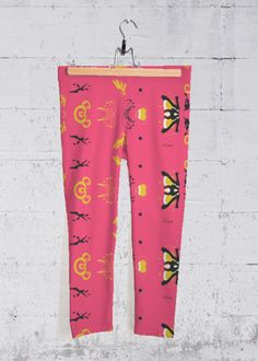 YOGA CAPRI PANTS Pink Abstract By Rosart  Original artwork embellishes our four-way stretch, mid-rise printed capri pants designed to make you stand out at the gym, in the studio, or on the go.   https://shopvida.com/collections/rosytower/products/pink-abstract-by-rosart