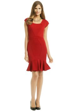 45a2a7c7144 ZAC Zac Posen Red Snapper Dress. Rent ...