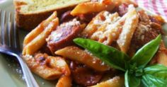 This easy to assemble and serve freezer meal is a simple mix of sausage and penne to make a meal everyone in your family will enjoy.