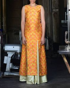 Yellow Kurta With Golden Skirt I Shop at :http://www.thesecretlabel.com/sugandh
