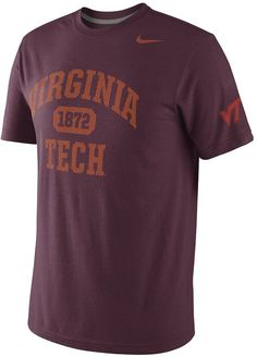 That this men s Nike Virginia Tech Hokies tee is tributary makes it  extraordinary. Featuring team 4eff0fcd0