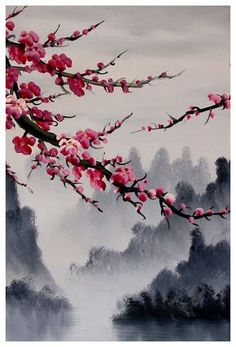 Cherry blossom art, Cherry blossom wall mural, cherry blossom japanese art print set of 3 - Cherry blossom art, Cherry blossom wall art, Japanese cherry blossom art print. Archival quality Giclee print on photo paper Cherry Blossom Watercolor, Cherry Blossom Art, Blossom Trees, Japanese Cherry Blossoms, Japanese Blossom, Chinese Cherry Blossom, Cherry Blossom Wallpaper, Cherry Blossom Meaning, Japanese Geisha