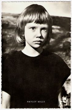 Hayley Mills in 'Tiger Bay' - This film had a HUGE impact on me as a small child. I believed in it & yet I also knew that Hayley was acting and her father was the policeman. It was very confusing. I wanted to BE Hayley for years and years after this. Haha I felt like this too, I wanted to cut my hair lkie hers!!!