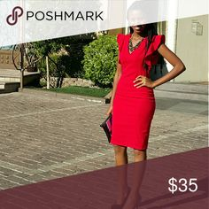 Xoxo red dress Knee length dress perfect for many occations, i wore it only twice XOXO Dresses Midi