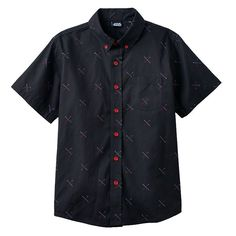 Boys 8-20 Star Wars Light Saber Button-Down Shirt, Black