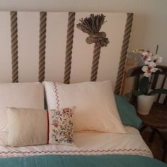 """Image of Cabecero """"Knots"""" Headboard Knots, Bed Pillows, Pillow Cases, Interior Design, Deco, Projects, Handmade, House, Image"""