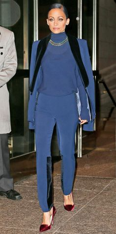 Look of the Day - October 18, 2014 - Nicole Richie in SAFiYAA from #InStyle