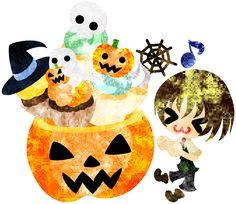 フリーのイラスト素材ハロウィンとジャックオランタンと少年とお菓子箱  Free Illustration Halloween and jack-o-lanterns and a boy and sweets box   http://ift.tt/2cZKo02